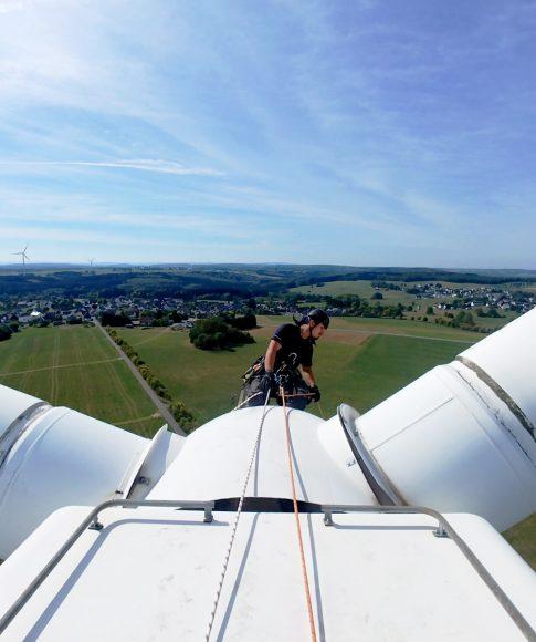 Instandhaltung von Windkraftanlagen